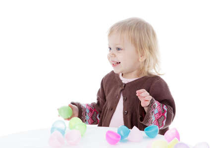 1-2, 2, adorable, attractive, baby, basket, beautiful, blonde, bow, caucasian, celebration, charming, child, childhood, colorful, daughter, decoration, easter, eggs, female, girl, happy, holding, holiday, human, isolated, joyful, kid, little, one, opening