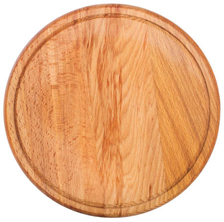 round cutting board. Top view
