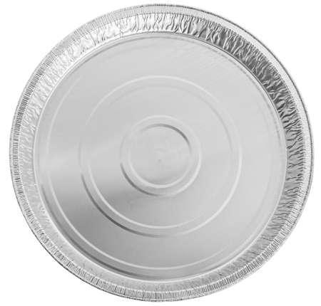 Pusty okrągły kształt do pieczenia. widok z góry Zdjęcie Seryjne