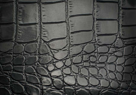Material with texture of a reptile leather / black texture gridded