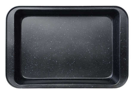 Top view  baking tray isolated on white for use in layouts and illustrations Stock Photo
