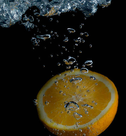 Orange and water splash fruit, background splash, cold, drink, citrus