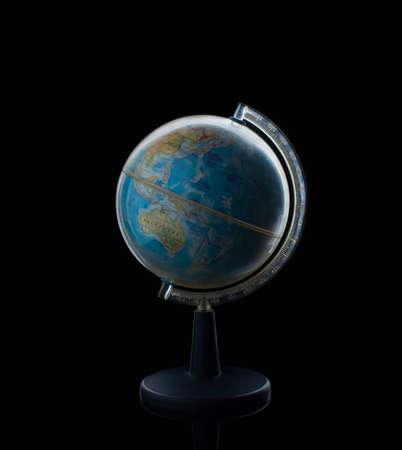 Globe sphere orb model effigy. vintage style world, global, education, geography, travel earth
