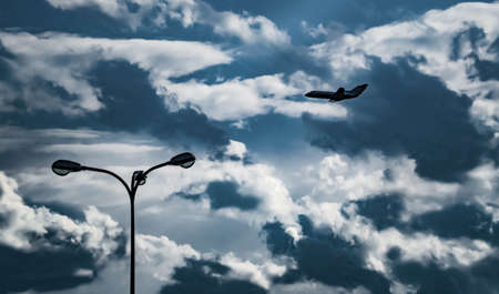 passenger plane silhouette in the airplane, blue, business, element, jet, plane, silhouette, sky, symbol travel aeroplane air aircraft airline airliner airport Imagens - 103758587