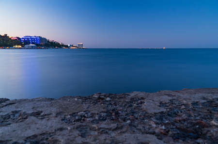 embankment, sea and blue sky city, landscape, panorama beach Imagens - 106446173