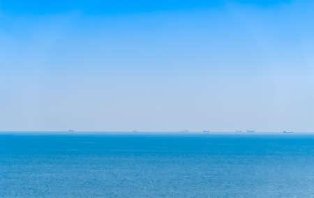Cruise liner and cargo ship on the horizon raft, horizon, sea, ship, business