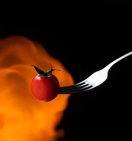Tomates cerises cherry fresh splash action movement vegetarian, vitamin, ecology, health