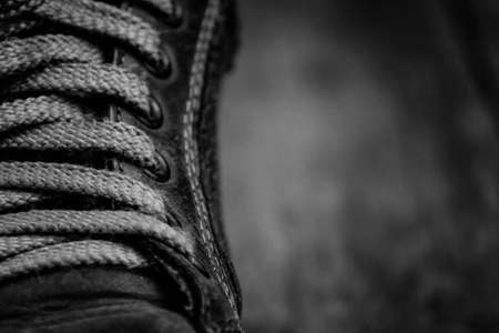 cud: The laces on old sneakers