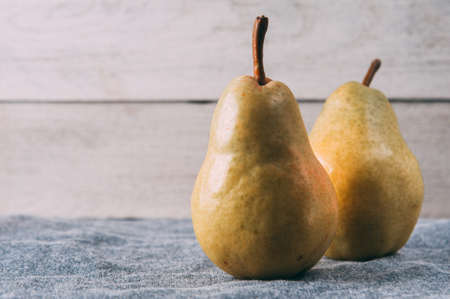 Pears on a light background