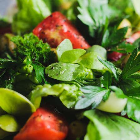 신선한 토마토 샐러드입니다. 다이어트 또는 깨끗한 먹는 개념 스톡 콘텐츠