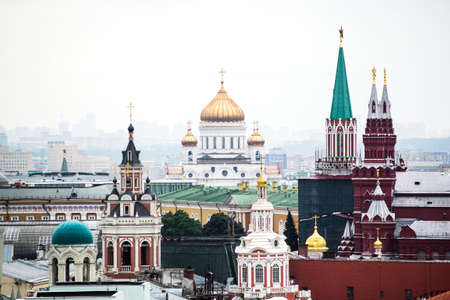 Historic architecture in Moscow city 스톡 콘텐츠