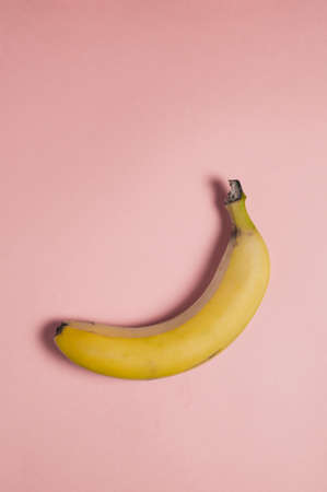 Bananas on pink background