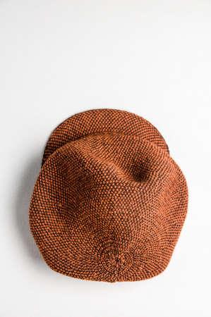 Womens vintage hat on light background