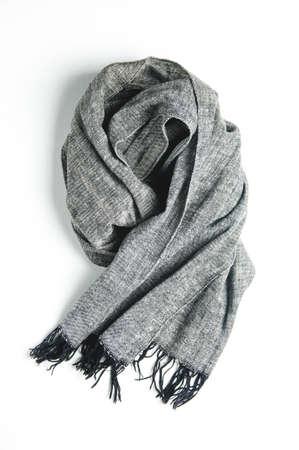 Gray scarf on light background