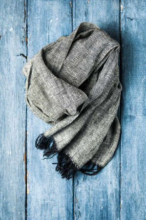 Scarf on blue background