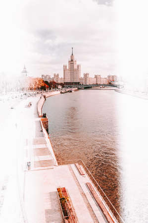 Historic architecture in Moscow city 에디토리얼