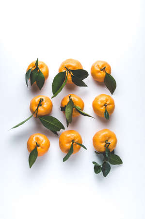 Tangerines on a light background Stock Photo
