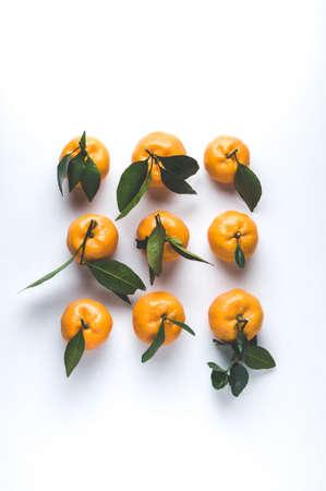 Tangerines on a light background Stockfoto