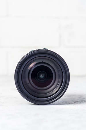 Photo lens on white background 版權商用圖片 - 121679036