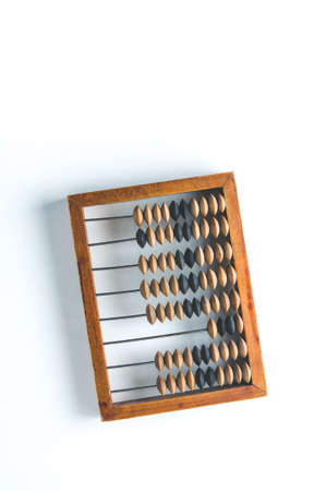 Old wooden abacus on white background Standard-Bild - 121679114