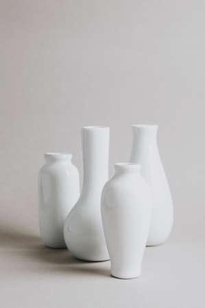 White utensils for creativity on a light background Standard-Bild - 121679366