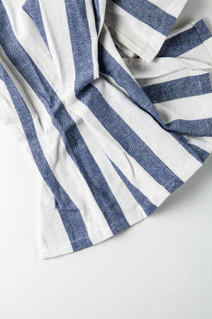 Light kitchen towel with blue stripe Stockfoto