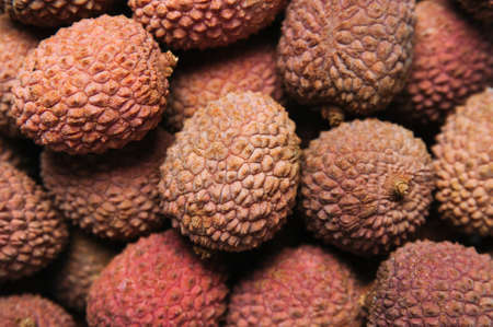 Background of fresh lychee berries