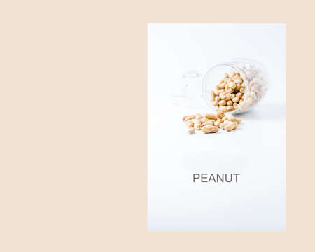 Peanuts in a jar isolated  on white background Banco de Imagens