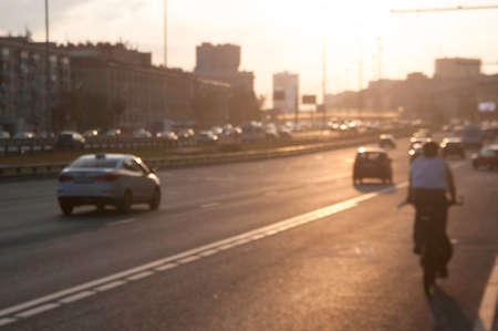Traffic and transportation in modern city 写真素材