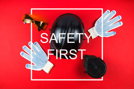 Personal protective equipment and text