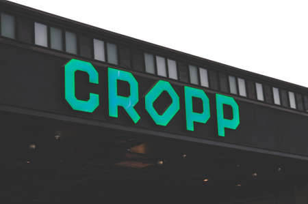 Russia, Moscow, October 03, 2019: CROPP logo on the shop window Editorial