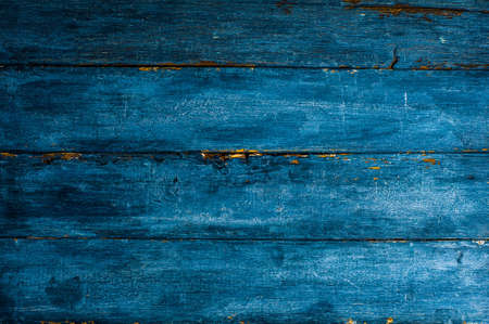 Bright blue wooden background, template for text or design Imagens