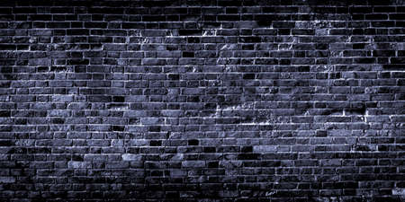 Black brick wall texture. Background for text or design Banco de Imagens