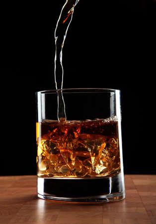 glas whiskey Stock Photo