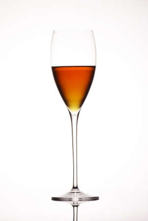 wine  glass on  white