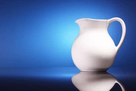 pitcher of milk Stock Photo