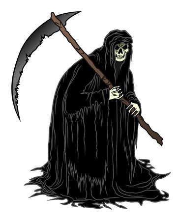 scythe: Death with scythe Vectores