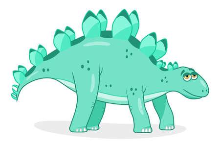 stegosaurus: Cartoon dinosaur stegosaurus