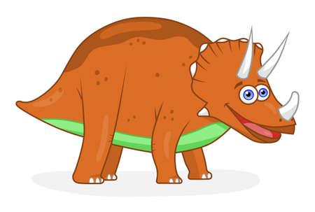 triceratops: Cartoon dinosaur triceratops