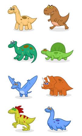 deinonychus: Dinosaurs set Illustration