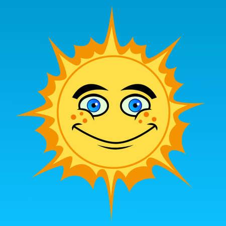 cartoon: cartoon sun Illustration