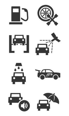 car tuning: Car services icon set
