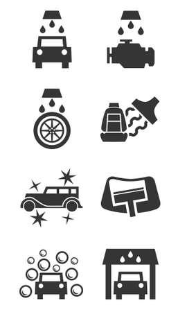 car wash: Car wash icon set Illustration