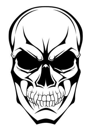 monochrome: monochrome skull Illustration