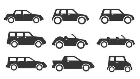 coupe: car icon set Illustration