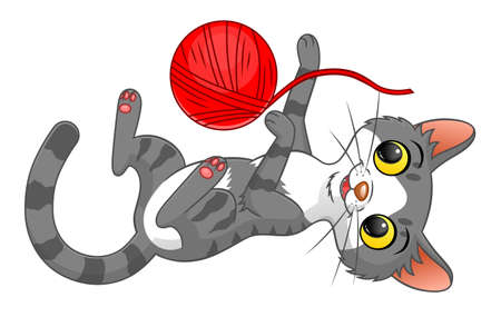 playing cat Illustration