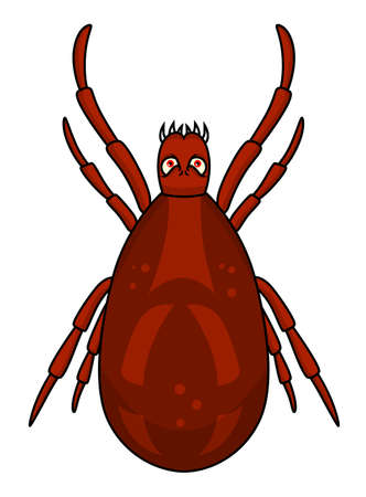 threaten: Evil tick Illustration