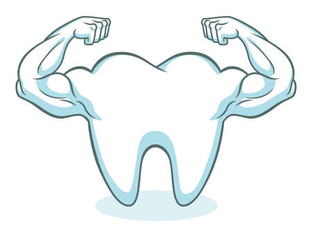 strong: Strong healthy tooth Illustration