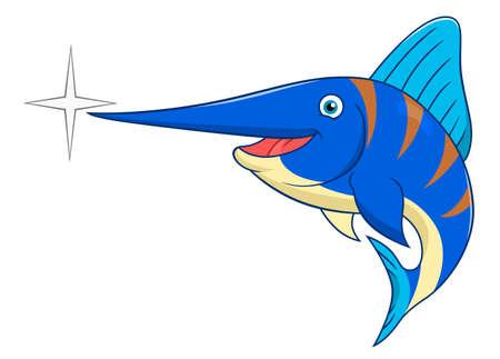 billfish: Cartoon swordfish Illustration