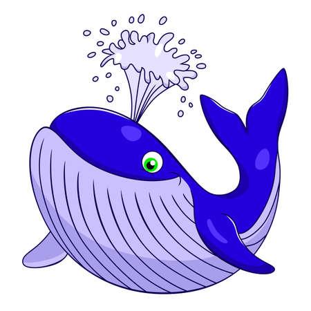 aquatic mammal: cartoon whale Illustration